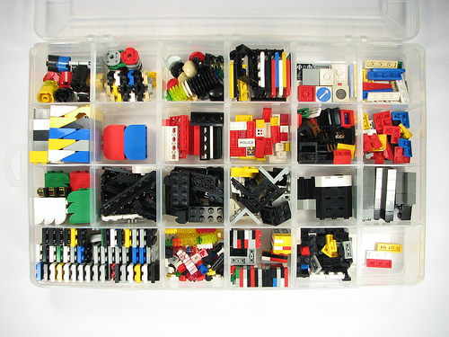 Lego Pieces in Box