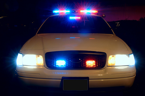 Police Car Flashing Lights