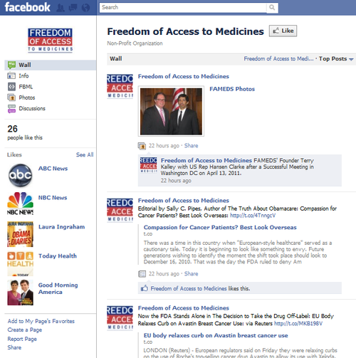 Facebook Freedom of Access to Medicines