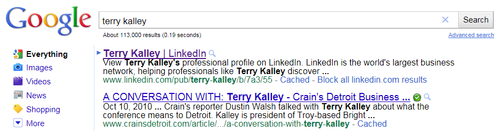 Terry Kalley Google Search