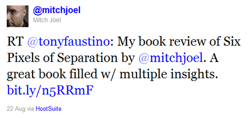Mitch Joel Tweet