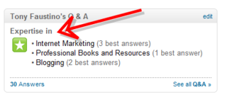 LinkedIn Best Answers Badge 1