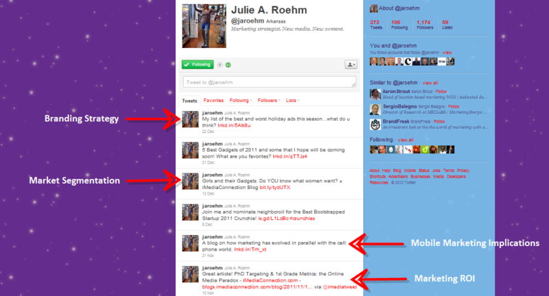 Julie Roehm Twitter Page