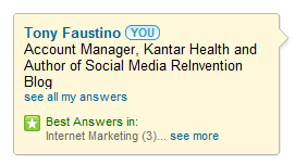 LinkedIn Best Answers Badge 2