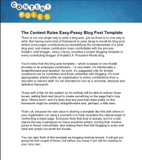 Content Rules Blog Post Template
