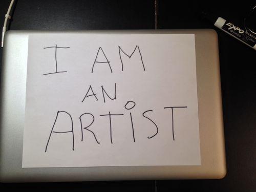 I Am an Artist Pic 1