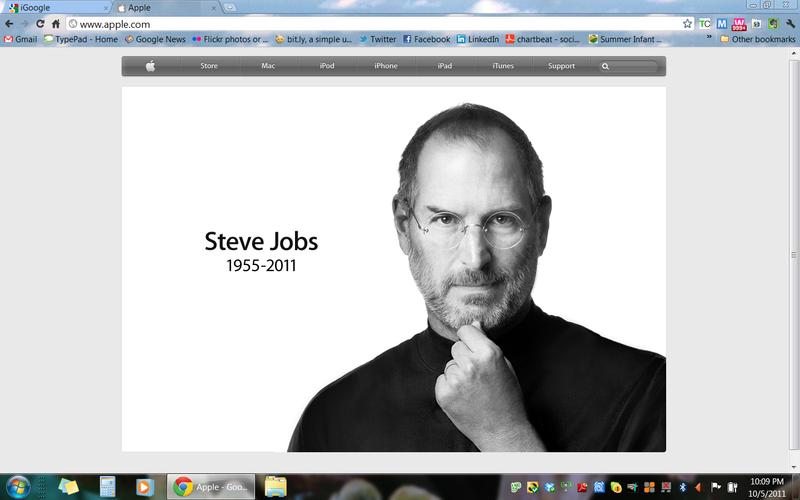 Steve Jobs RIP October 5 2011