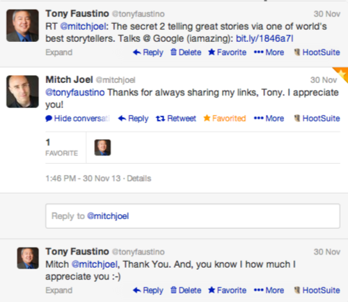 Twitter Conversation Mitch and Tony