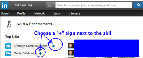 LinkedIn Endorsement Example