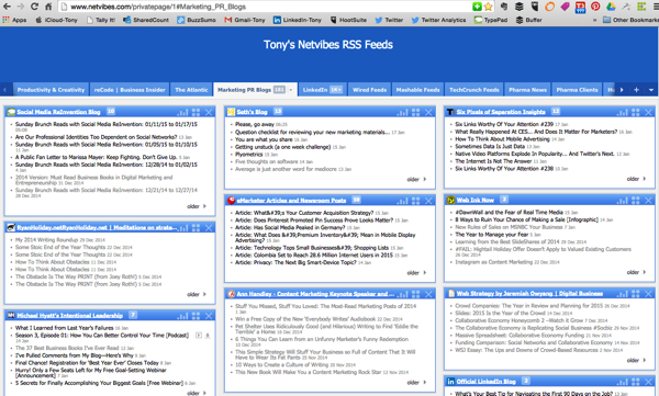 Netvibes RSS Dashboard