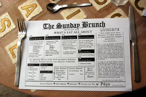 Sunday Brunch Newspaper