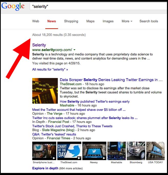 Selerity Google News Search