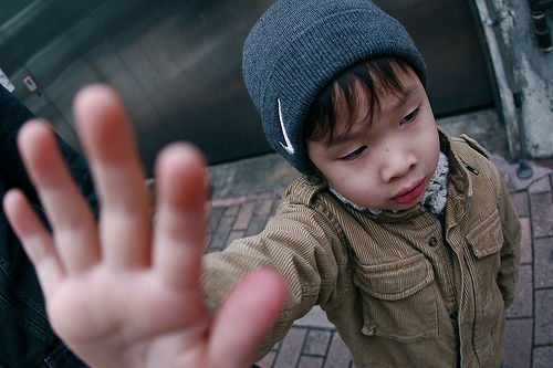 Young Boy Says Talk to The Hand